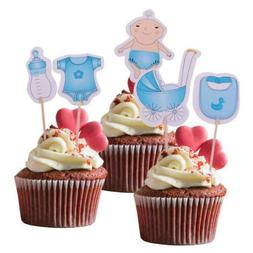 20Pcs Its a Boy Baby Shower Cupcake Cake Toppers Kids Birthd