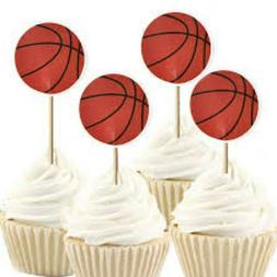 Basketball Cupcake Toppers 2 Dozen Double Sided~USA Seller~