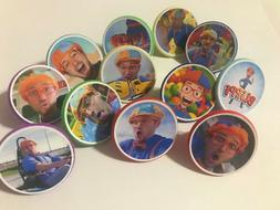 24 BLIPPI cupcake toppers RINGS - birthday party favor cake