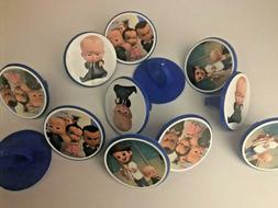 24 BOSS BABY cupcake toppers RINGS - birthday party favor ca