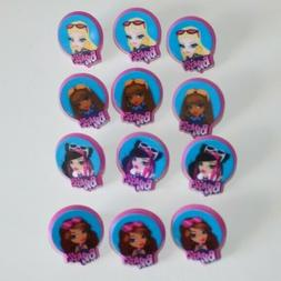 12 bratz cupcake ring toppers party favors