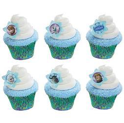 24 Disney Frozen Cupcake Rings & 24 Baking Cups