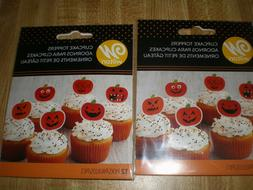 24 Halloween Cupcake Toppers by Wilton NEW Paper & Plastic P