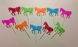 24 Horses Toothpicks Party Food Picks Cupcake Toppers