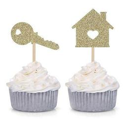 24 House Housewarming Party Decorations Sweet Cupcake Topper