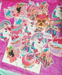 24 Large JoJo Siwa Cupcake Toppers Party Favors Supplies for