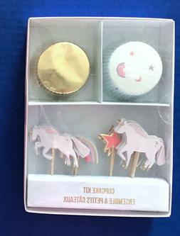 MERI MERI 24 Magical UNICORN & RAINBOW Toppers & 24 Cupcake