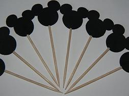 24 Mickey Mouse inspired cupcake toppers food picks birthday