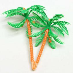 """24 Palm Tree 2 1/2"""" Cupcake Picks Cake Toppers Decorations P"""