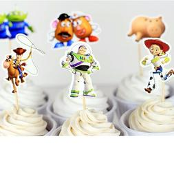 24 Pcs Children's Buzz Light Year Cupcake Topper - SUP34002B