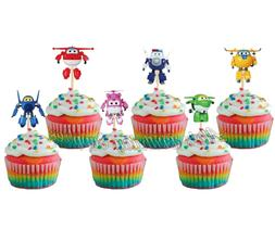 pcs Super Wings Cupcake Toppers Birthday Party Supplies