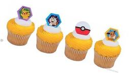 24 POKEMON I CHOOSE YOU CUPCAKE RINGS CAKE TOPPERS