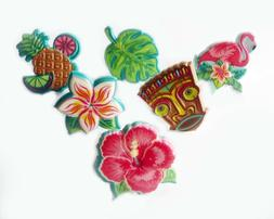 24 Polynesian Flair Cupcake Rings Cake Toppers Party Favors