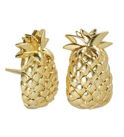 24 Vertical Pick Gold Pineapple Cupcake Picks Toppers Luau S
