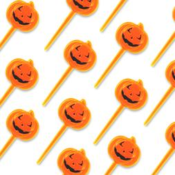 24pc Halloween Party Supply Cupcake Pumpkin Toppers Decorati
