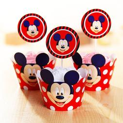 24pcs=12 Sets <font><b>Mickey</b></font> <font><b>Mouse</b><