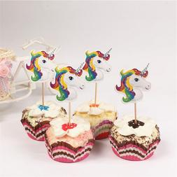24pcs Cartoon <font><b>Unicorn</b></font> Party <font><b>Cup