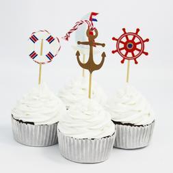 QWWSS 24pcs <font><b>Navy</b></font> Sailing Anchor <font><b