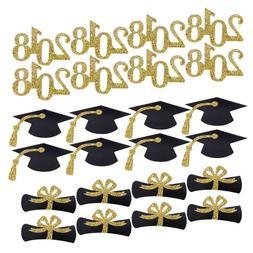 24pcs Graduation Cap Cake Decorative Toppers Cupcake Decorat