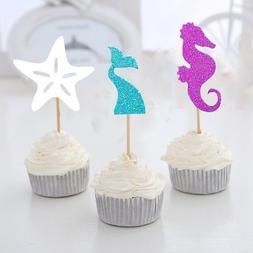24pcs Mermaid Tail/Hippocampus/Starfish <font><b>Under</b></