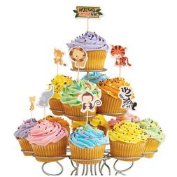 24pcs Safari Jungle Animal Cupcake Toppers Picks Birthday Pa