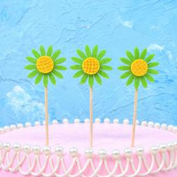 30 pcs Cake Toppers Lovely Cupcake Decor Party Supplies for