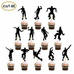 36 Pcs Fortnite Dance Tiktok Party Cupcake Toppers 12 Styles