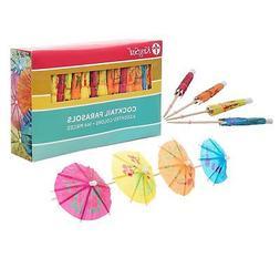 KingSeal 4 Inch Umbrella Parasol Cocktail Picks, Cupcake Top