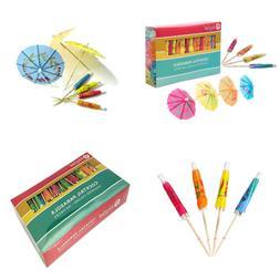 "4"" Umbrella Parasol Cocktail Picks Cupcake Toppers 1 Pack Of"