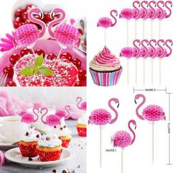 40 pack flamingo cupcake toppers cocktail picks