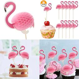 40 PC 3D Flamingo Cake Toppers Party Supplies Cupcake Cockta