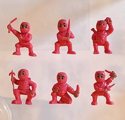 40 Red Mini Karate Ninjas Warriors Fighters Figures Cupcake