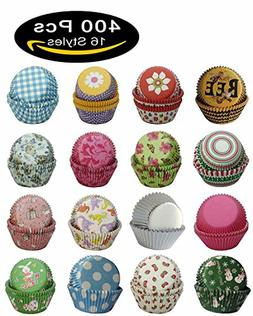 SophieBella 400 Assorted 16 Style Muffin-Liners Cupcake-Line