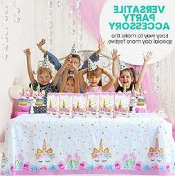 48 PC Rainbow UNICORN Cupcake Toppers Picks Double Sided Cak