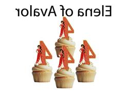 4th birthday Elena of Avalor cupcake toppers,cakepop toppers