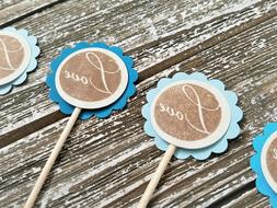 50 Love Cupcake Toppers Wedding Anniversary Bridal Shower De