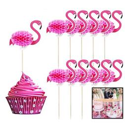 50 Pack Flamingo Cupcake Toppers DIY Cakes Topper PicksCoc
