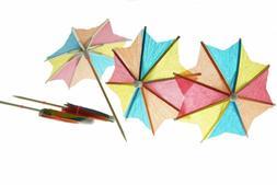 Bilipala 50 PCS Colorful Paper Umbrellas, Cocktail Parasol P