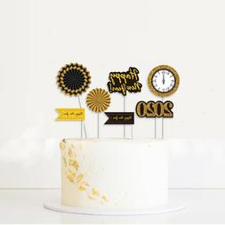 5pc 2020 Fishtail Clock Cake Toppers Party Occasions Supplie