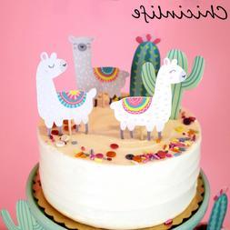 Chicinlife 5Pcs Alpaca Llamas and <font><b>Cactus</b></font>