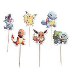 POKEMON CUPCAKE TOPPERS 4 DOZEN DOUBLE SIDED ~USA SELLER~