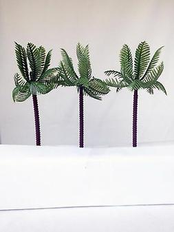 6 Large Palm Trees Cake Decorations Cupcake Picks Toppers Pa