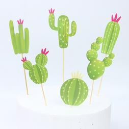 6pcs INS <font><b>Cactus</b></font> <font><b>Cupcake</b></fo