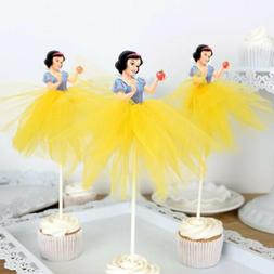 6pcs Snow White Cupcake Topper, Princess Topper