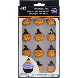Wilton 710-2122 Pumpkin with Witch Hat Royal Icing Decoratio