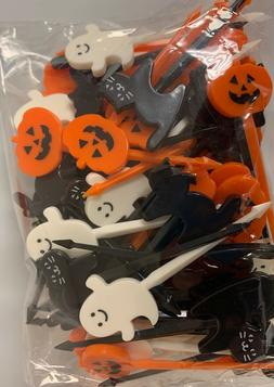 72 Count Halloween Cupcake Picks Topper Jack O Lantern Cats