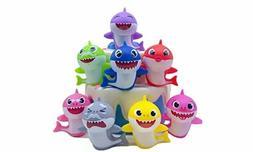 8 Pcs Cute Shark Cupcake Toppers Colors Cake Picks For Kids