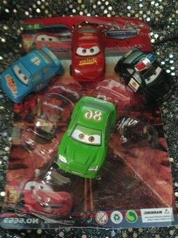 8-DISNEY PIXAR CARS PLASTIC FIGURINES--PARTY CAKE CUPCAKE TO