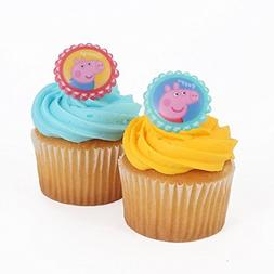 "Bakery Crafts - Peppa Pig 24 Cupcake Topper Rings, 1.5"" x 1."