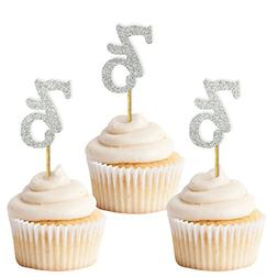 Darling Souvenir, Glitter Custom Day Number Cupcake Toppers,